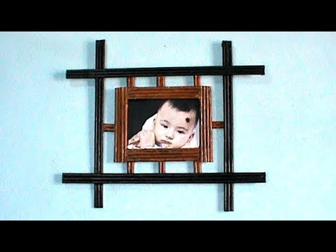 DIY Nwespaper Easy and Awesome Photo Frame | DIY Newspaper craft | DIY Photo Frame | #RS crafts