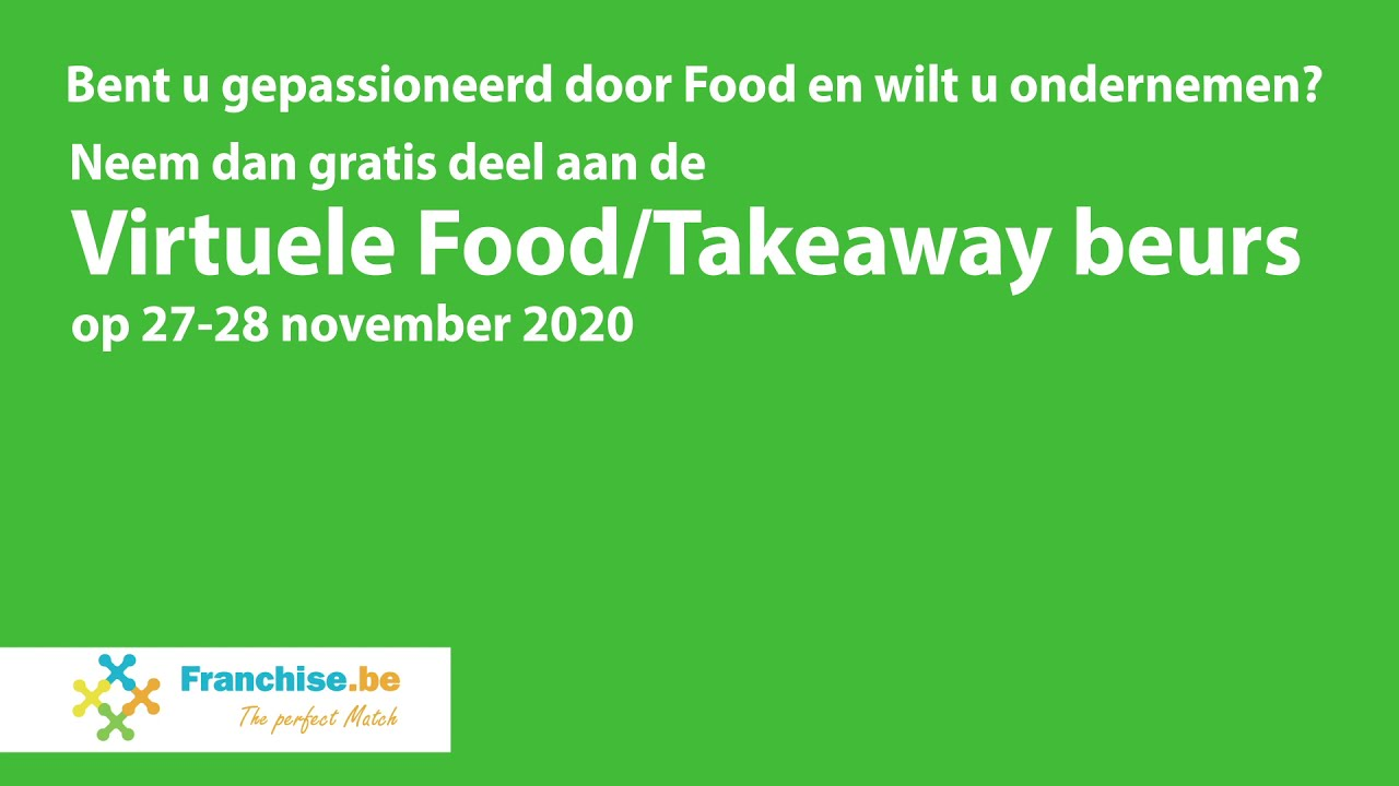 Virtuele Food & Take Away Beurs