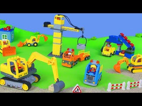 Bagger, Lastwagen, Spielzeugautos, Kran & Truck Baustelle für Kinder | LEGO Duplo Spielwaren