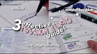 BACK TO SCHOOL REVISION METHODS ☆ EFFECTIVE STUDY GUIDES
