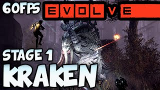 Evolve Gameplay: Kraken Stage 1 Kill! - 1080p Ultra 60fps Max Settings