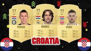 FIFA 19 | TOP 20 BEST CROATIAN PLAYER RATINGS PREDICTION 😳| FT. MODRIC, PERISIC, REBIC... etc