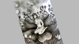 pencil shading flowers drawings drawing shaded rose sketch step flower easy paintingvalley