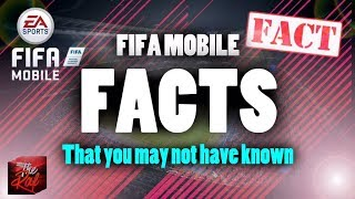 FACTS THAT YOU DIDN'T KNOW ABOUT FIFA MOBILE !!!