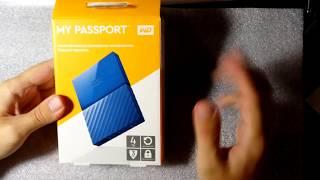 Внешний диск Western Digital 4tb my passport- обзор WDBUAX0040