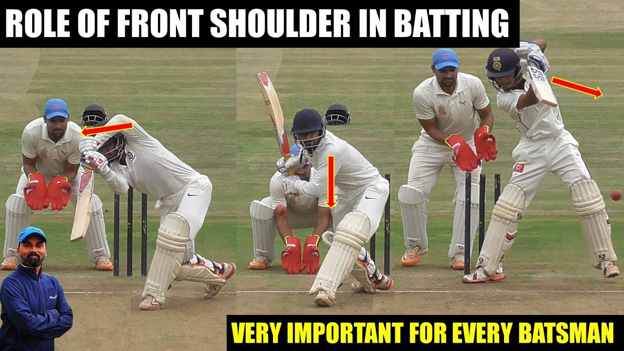 ROLE OF FRONT SHOULDER IN BATTING | BATTING TIPS | CRICKET COACHING TIPS | HINDI