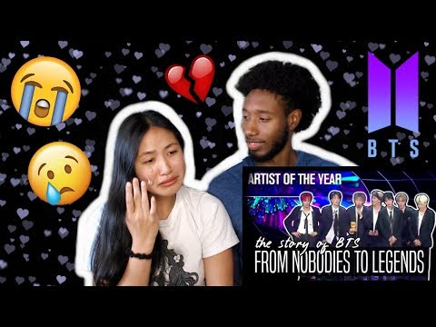 BLASIAN COUPLE REACTS TO BTS // FROM NOBODIES TO LEGENDS 2013- DEC 2017 | REACTION *SHE CRIED*