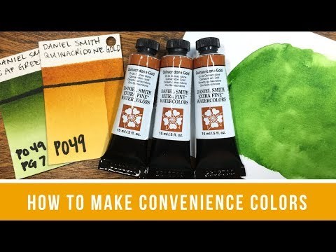 Saying Goodbye to Quinacridone Gold & How to Make Your Own Convenience Colors (Sap Green)