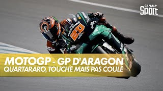 Quartararo, la pole même blessé ! - GP d'Aragon