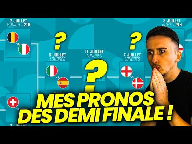 PRONOSTIC DEMI FINALE EURO 2021 ! MES PRÉDICTIONS (Italie - Espagne, Angleterre - Danemark)