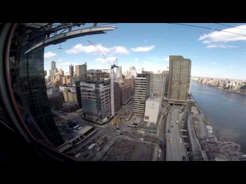 Cable Car Roosevelt Island Back To New York (Go Pro Hero 3+ Black Edition)