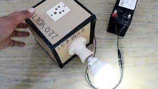220 Volt AC İnverter Evde Kolay Yolu herhangi bir Devre Yapmadan basit bir 12 Volt DC nasıl