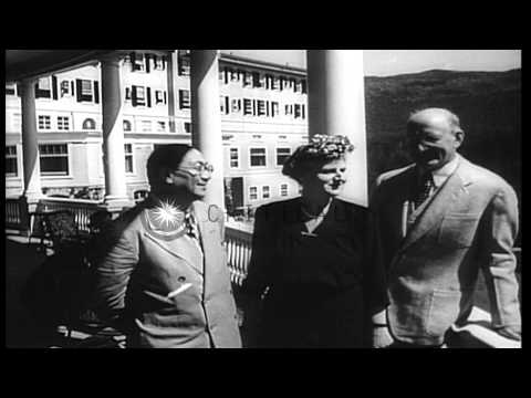 Henry Morgenthau heads the US delegation and opens the UN Monetary and Financial ...HD Stock Footage