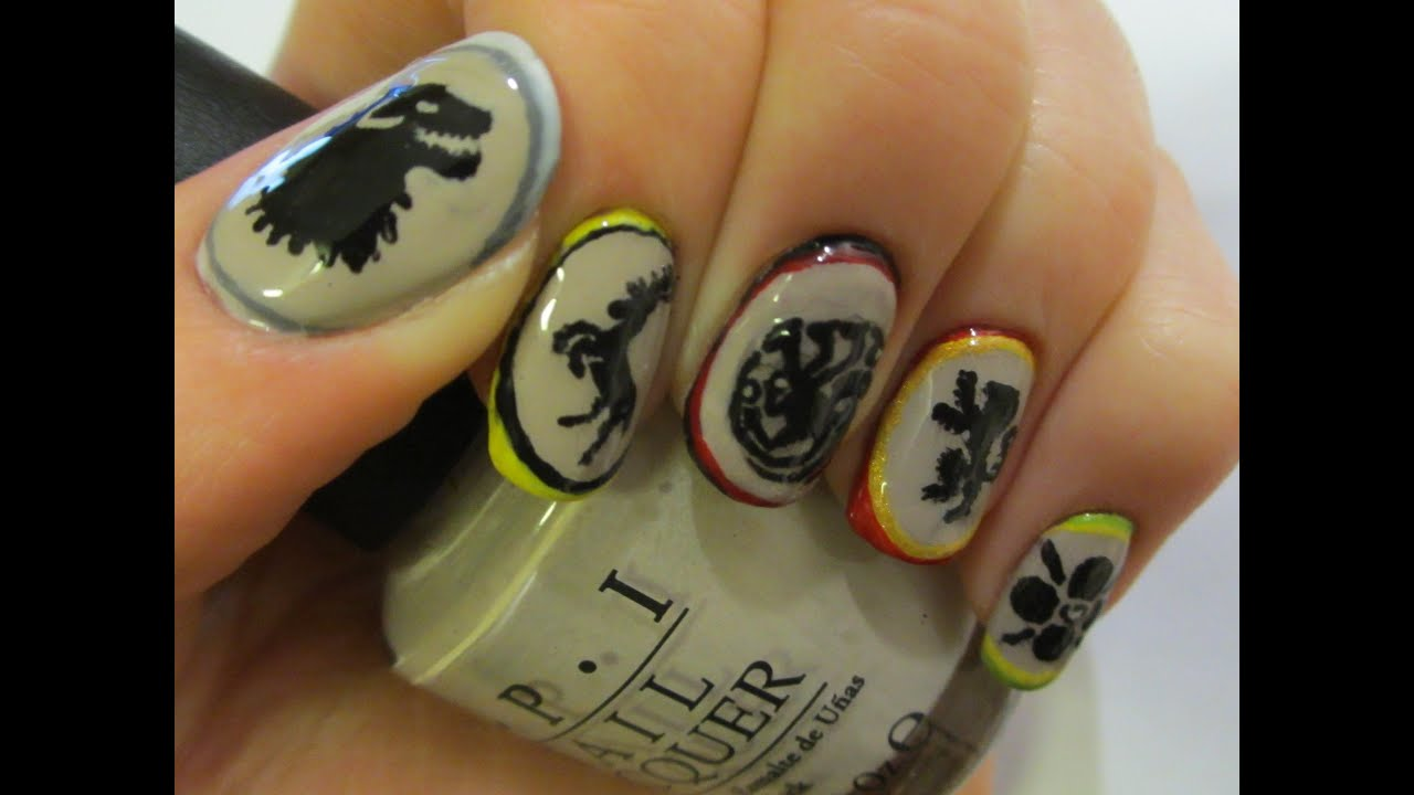 Unofficial) Game of Thrones Nail Art Tutorial - YouTube