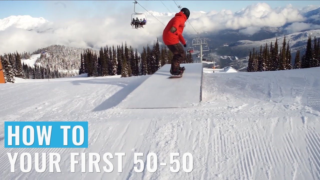 2cbb09992ebe How To Do Your First 50-50 On A Snowboard - YouTube
