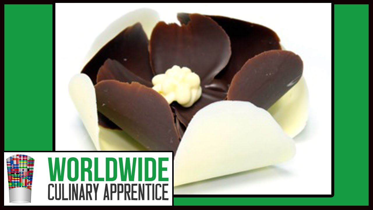 Easy Chocolate Flower 3 Steps Chocolate Garnishes Romantic
