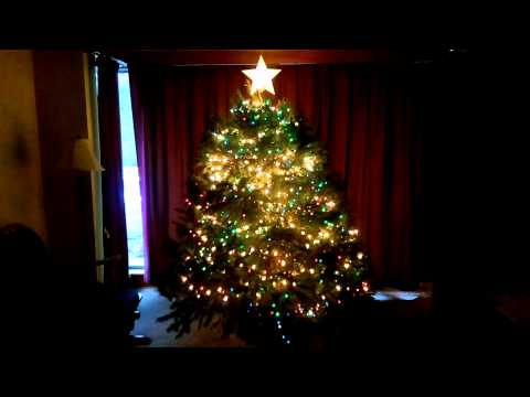 Christmas tree lights synced to music