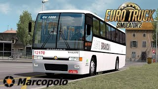 This is review about Euro Truck Simulator 2 Mods ====================================================== Mods: Marcopolo Volvo GV 1000 by Will Mods https://ets2.lt/en/volvo-gv-100/  JBX Graphics – Complete Package (10-1-2019) by JuanBonX (Mod), CeeJay.dk,