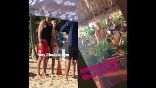 Justin Bieber with Hailey Baldwin Bieber & Carl Lentz in Hawaii - December 31, 2018