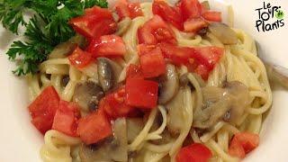 Pasta With Savory Mushroom Cream Sauce, Oil-free, Low Fat, Vegan, Rawtill4