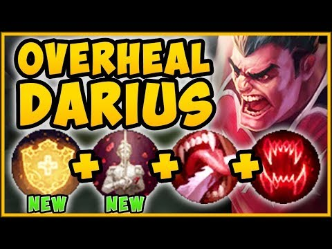 WHAT IS RIOT THINKING?? NEW OVERHEAL BUFF MAKES DARIUS 100% BUSTED! - League of Legends Gameplay