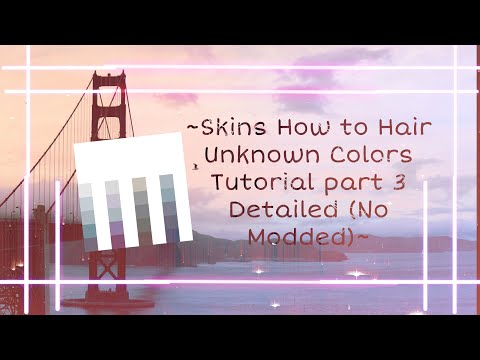  Pixel Gun 3D  ~Skins How To Hair Unknown Colors Tutorial Part 3 Detailed ❌No Modded❌~