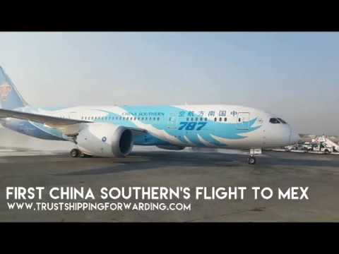 Welcome of CHINA SOUTHERN first plane to Mexico city airport (MEX)