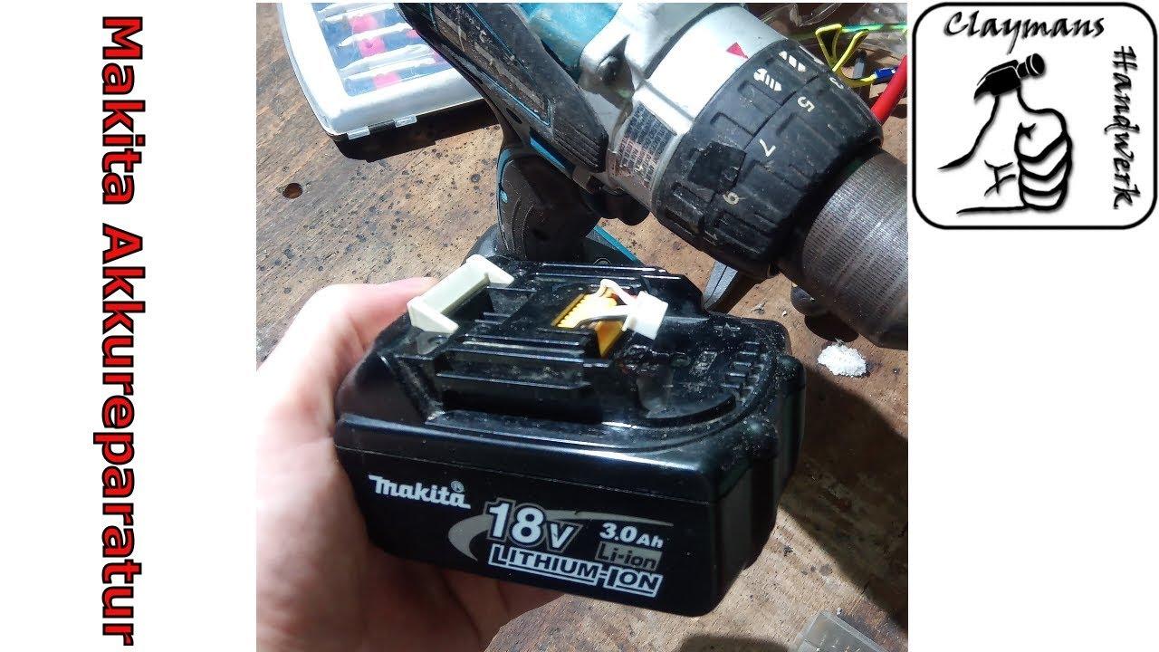 makita 18v akku defekt reparieren eines bl1830 battery repair youtube. Black Bedroom Furniture Sets. Home Design Ideas