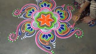 Chowkpurana designs with dots // Chowk pujan designs // rangoli designs // kolam designs