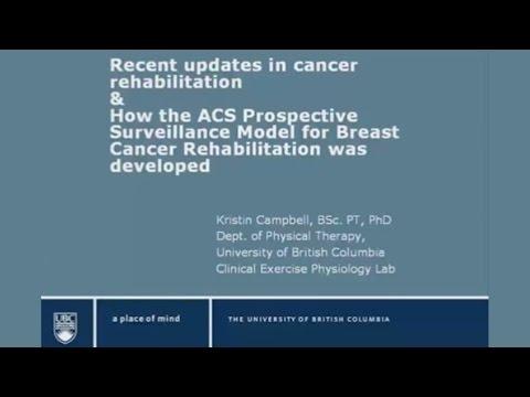 Recent Updates in Cancer Rehabilitation - Febraury 15, 2013