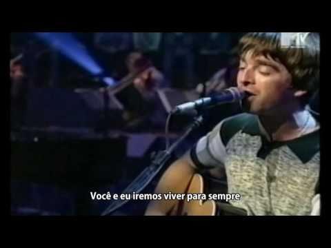 Oasis - Live Forever - Legendado • [BR | Live MTV Unplugged]