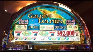 """HAPPY NEW YEAR 2020 HUGE TAX FREE CASH OUT 0 05CENTS """" GOLDEN DOLPHIN"""" 9 MAX BET LIVE WINS"""