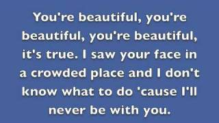 You're Beautiful By James Blunt Lyrics