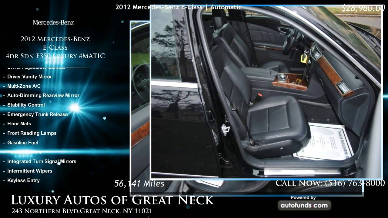 used 2012 mercedes benz e class luxury autos of great neck great neck ny sold youtube. Black Bedroom Furniture Sets. Home Design Ideas