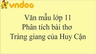 Phân tích bài thơ Tràng giang của Huy Cận - VnDoc.com