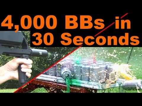 8,000 RPM Airsoft Gun Vs 50 Cans (Strafer MK4)