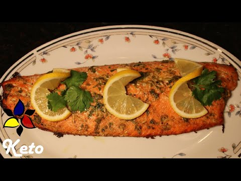 Keto Baked Herbed Salmon Quick and Easy