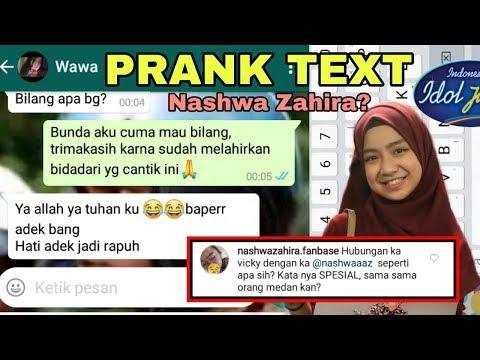 PRANK TEXT NASHWA ZAHIRA INDONESIAN IDOL PAKE KOMENTAR JURI