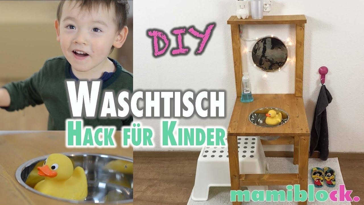 waschtisch f r kinder aus einem stuhl diy mamiblock youtube. Black Bedroom Furniture Sets. Home Design Ideas