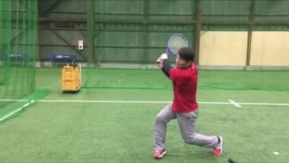 野球指導〜ラケットの面を使ってバッティングにおける両手の使い方・打撃練習〜