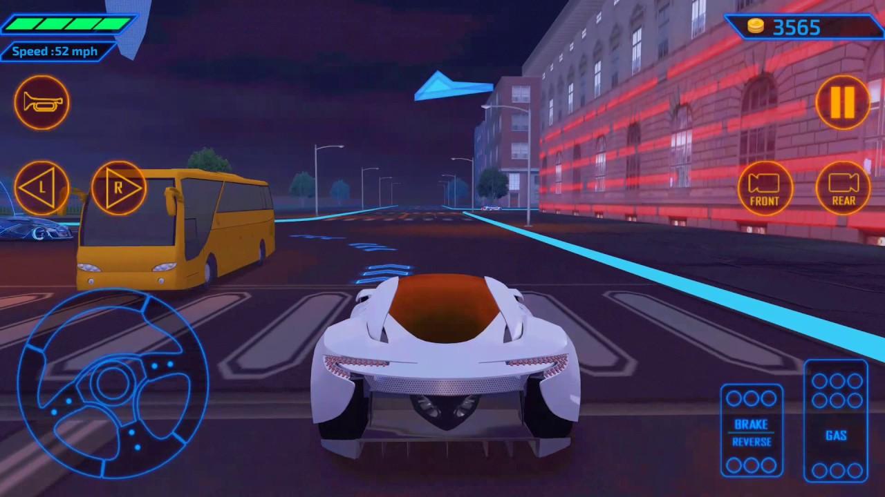 concept car driving simulator - youtube