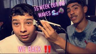 Straight Hair Waves : 15 week cut off video !!