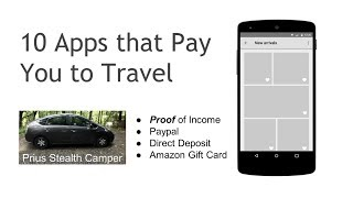 10 Apps that Pay You to Travel, Make Money Cash Simple RV SUV Car Van Dwellers