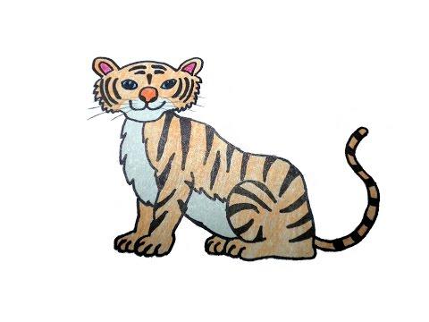 วาดรูป เสือ สอนวาดรูปการ์ตูนน่ารักง่ายๆ สอนวาดรูปการ์ตูนระบายสี How To Draw Tiger Cartoon