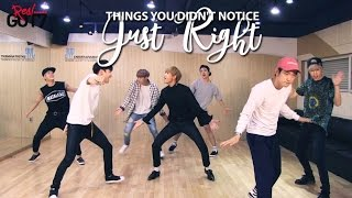 THINGS YOU DIDN'T NOTICE IN GOT7'S JUST RIGHT DP (REAL GOT7 VER.)