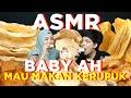 Baby AH mau makan kerupuk. Atta Aurel Borong.