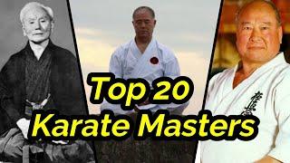 Top 20 Best Karate Masters in history