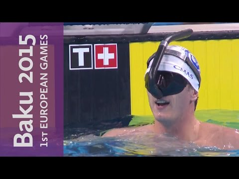 Men's 100m Fin Swimming Surface Final | Underwater Swimming | Baku 2015 European Games