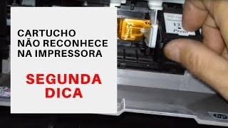 Cartucho não reconhece na impressora HP - Segunda dica - limpeza