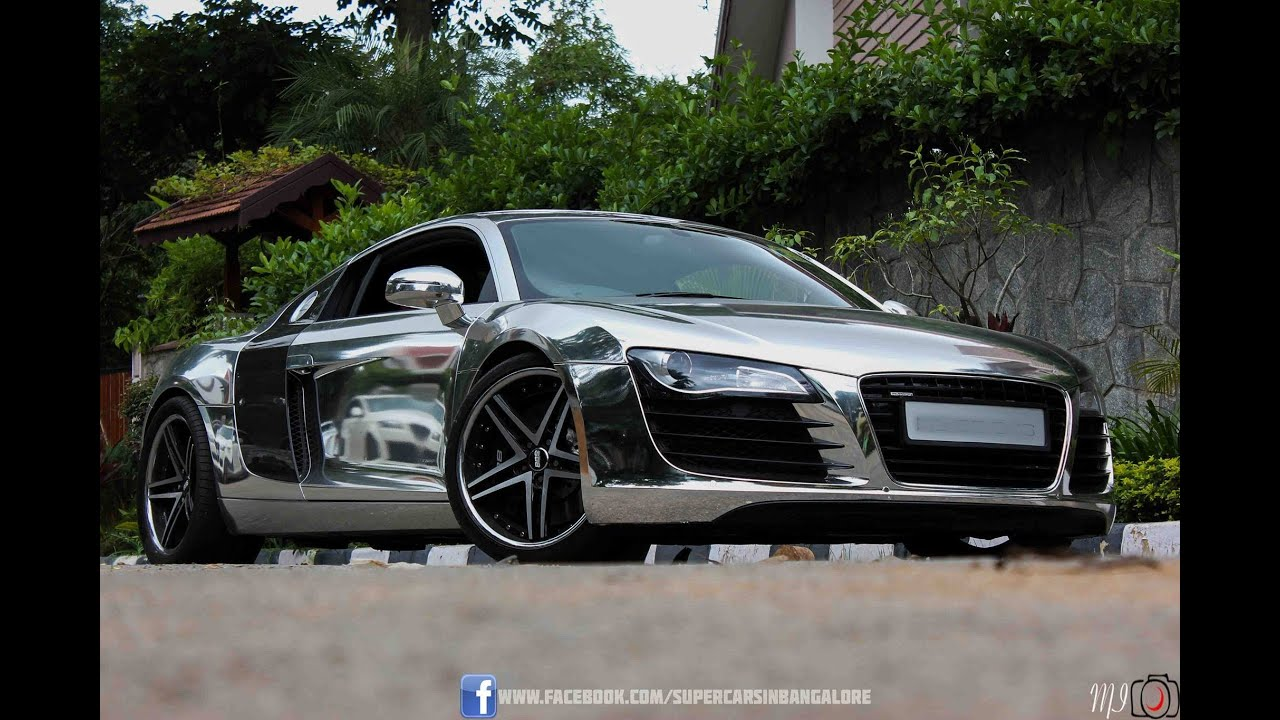 Chrome Audi R8 with Quick Silver Exhaust - YouTube